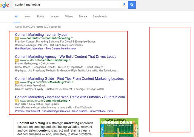 Google Remove Sidebar Ads